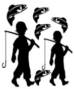 My Boys fishing 100 x 150 sold 3\'s